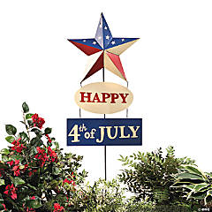 """Happy 4th of July"" Patriotic Yard Stake"