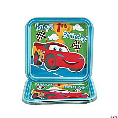 "Disney's Cars ""1st Birthday"" Champ Dinner Plates"