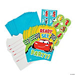 Disney's Cars 1st Birthday Champ Invitations With Seals