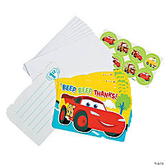 Disney's Cars 1st Birthday Champ Thank You Cards with Seals