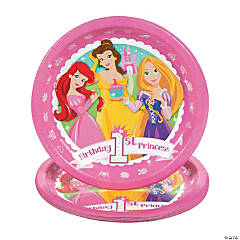"Disney Princess ""1st Birthday"" Dinner Plates"