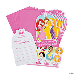 Disney Princess 1st Birthday Invitations with Seals