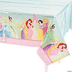 Disney Princess 1st Birthday Tablecloth