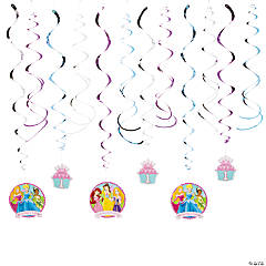 "Disney Princess ""1st Birthday"" Hanging Swirl Decorations"