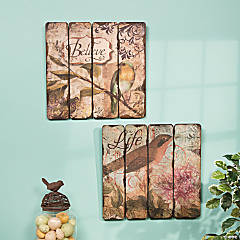 """Life"" & ""Believe"" Wall Décor"