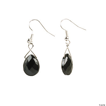 Black Briolette Earrings