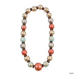 Painted Wood Bead Necklace Idea