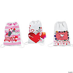 Valentine's Drawstring Backpack Card Holder Idea