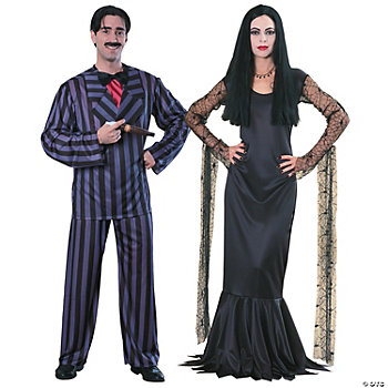 Addams Family Gomez & Morticia Couples Costumes