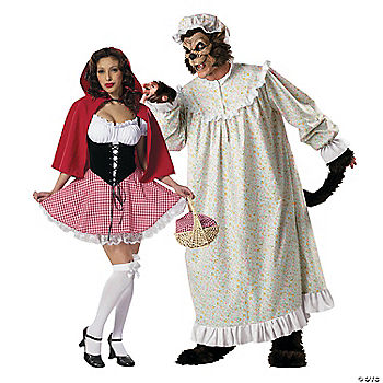 adults big bad wolf amp red riding hood couples costumes