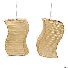 Gold Wave Paper Lanterns