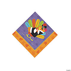 Fun Turkey Beverage Napkins
