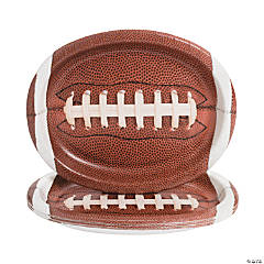 Touchdown Time Oval Football Plates