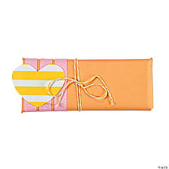 Heart Of Yellow Candy Bar Wrap Idea
