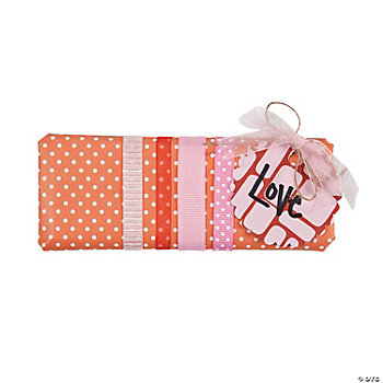 Orange Polka Dots of Love Candy Bar Wrap