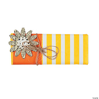 Yellow & Orange Forever Candy Bar Wrap