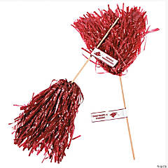 Burgundy Personalized Graduation Spirit Poms