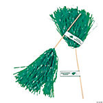 Personalized Green Graduation Spirit Poms