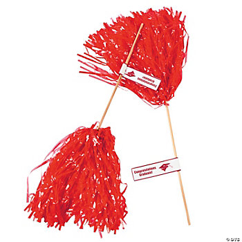 Red Personalized Graduation Spirit Poms