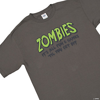 """Zombie Fun & Games"" Adult T-Shirt"