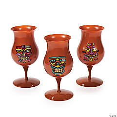Tiki Hurricane Glasses