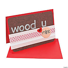 "DIY ""Wood U Be Mine"" Card Idea"