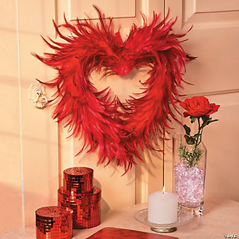 Feather Heart, Mirror Boxes & Vase