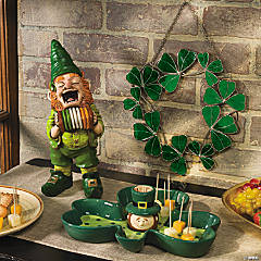 Leprechaun Gnome, Shamrock Wreath & St. Patrick's Day Server