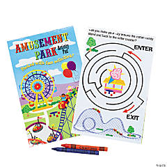 Amusement Park Activity Pads with 2-Pack Crayons