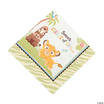 "Lion KIng ""Sweet Circle Of Life"" Baby Shower Luncheon Napkins"
