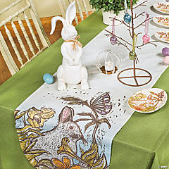 Easter Rabbit & Table Runner Display