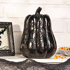 Black Decorative Pumpkin
