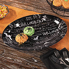 Black & White Halloween Platter