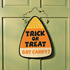 Candy Corn Painted Door Hanger