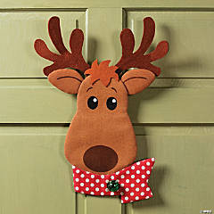 Painted Burlap Reindeer Wall Décor