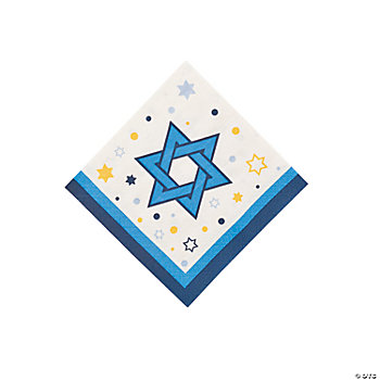 Stars Of Hanukkah Beverage Napkins
