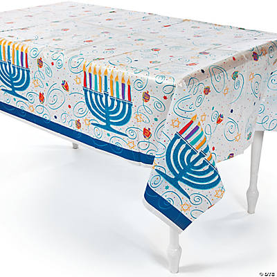Festive Hanukkah Table Cover