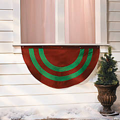Personalized Red & Green Striped Bunting