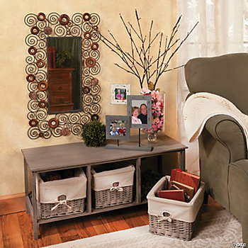 Spring Chest with Basket, Mirror & Frames
