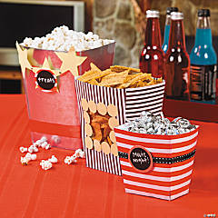 Movie Night Treat Buckets Idea