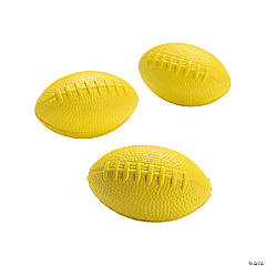 Yellow School Spirit Foam Footballs