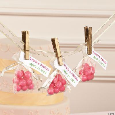 Wedding Favor Ideas Organza Bags : Clothespin Organza Bags Idea
