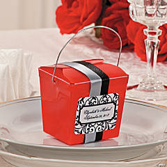 Dual Ribbon Takeout Boxes