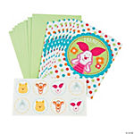 "Pooh ""Little Hunny"" Baby Shower Thank You Cards With Seals"