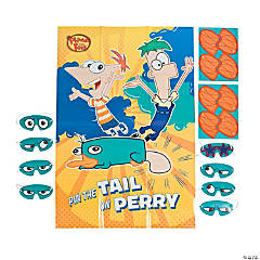 "Phineas & Ferb ""Pin The Tail On Perry"" Party Game"