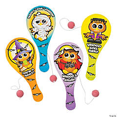 Halloween Owl Paddleball Games