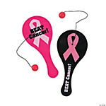 Mini Breast Cancer Awareness Paddleball Games