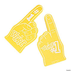 School Spirit Yellow Foam Hands