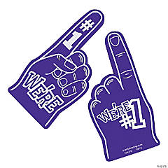 School Spirit Purple Foam Hands
