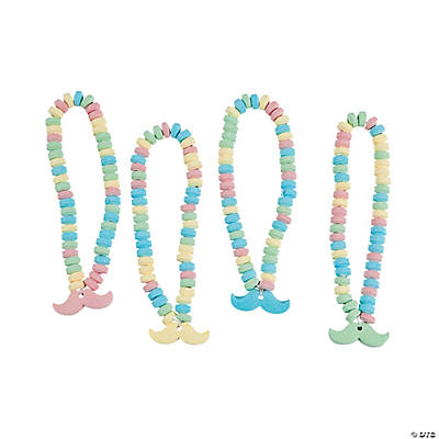 Mustache Candy Necklaces